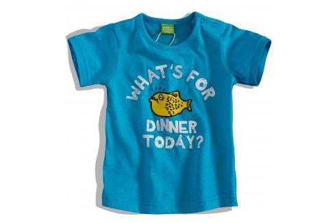 Kojenecké tričko PEBBLESTONE RYBA modré Velikost: 68 Kojenecká trička a košilky