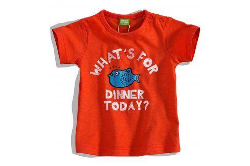 Kojenecké tričko PEBBLESTONE RYBA oranžové Velikost: 68 Kojenecká trička a košilky