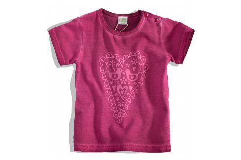 PEBBLESTONE Kojenecké dívčí tričko SRDÍČKO růžové Velikost: 68