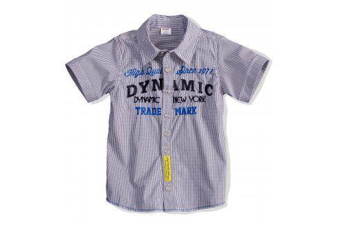 Dětská košile krátký rukáv DIRKJE DYNAMIC žlutá nášivka Velikost: 98 Trička a košile