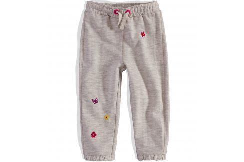 Kojenecké tepláčky Pebblestone KYTIČKY šedé Velikost: 68 Kojenecké kalhoty a šortky