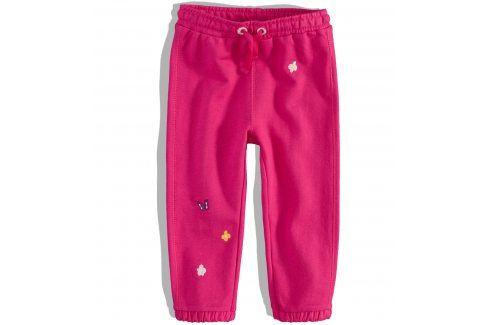 Kojenecké tepláčky Pebblestone KYTIČKY růžové Velikost: 68 Kojenecké kalhoty a šortky