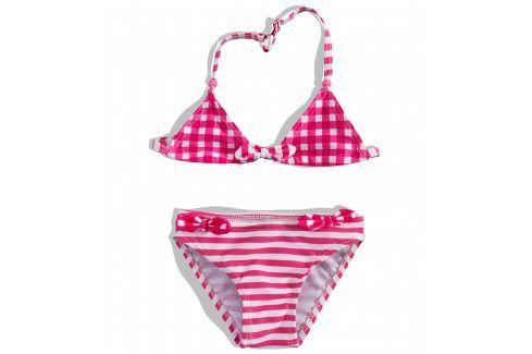 Dívčí dvoudílné plavky PEBBLESTONE růžové Velikost: 92-98 Dětské plavky