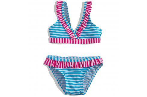 Dívčí plavky PEBBLESTONE PROUŽKY tyrkysové Velikost: 92-98 Dětské plavky