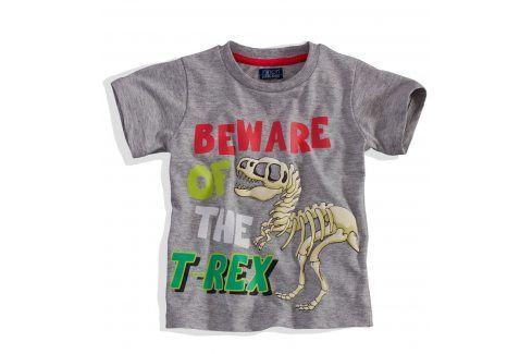 Chlapecké tričko s krátkým rukávem Minoti BITE šedé Velikost: 86-92 Trička a košile