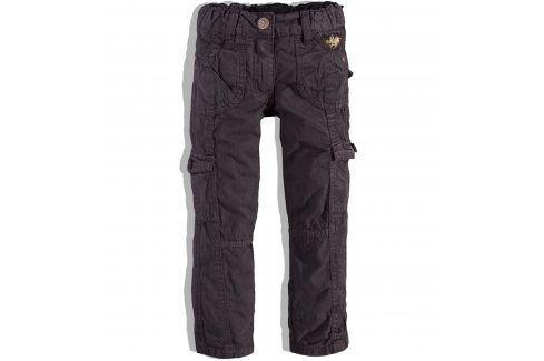 KNOT SO BAD Dívčí plátěné kalhoty KnotSoBad hnědé Velikost: 92 Dětské kalhoty