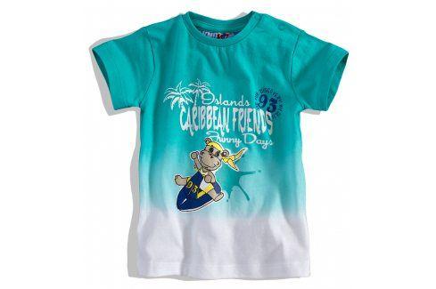 KNOT SO BAD Kojenecké tričko KnotSoBad CARRIBEAN tyrkysové Velikost: 62 Kojenecká trička a košilky