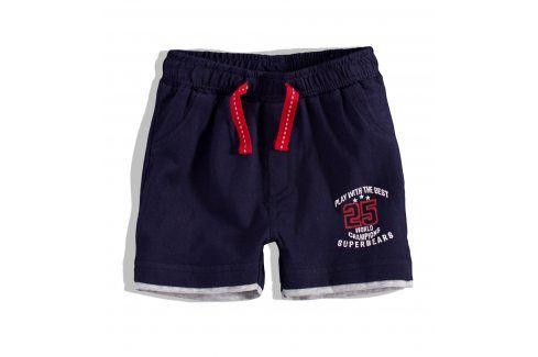 KNOT SO BAD Kojenecké šortky KnotSoBad SUPERBEARS tmavě modré Velikost: 68 Kojenecké kalhoty a šortky