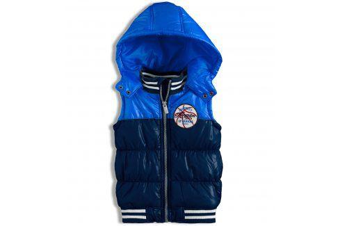 Kojenecká chlapecká vesta MINOTI modrá Velikost: 74-80 Kojenecké kabátky, bundy a vesty