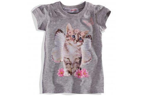 Dívčí tričko s kočičkou Minoti Velikost: 74-80 Kojenecká trička a košilky