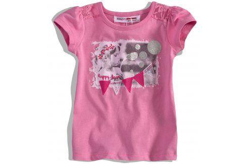 Dívčí tričko s krátkými rukávy Minoti Velikost: 74-80 Kojenecká trička a košilky