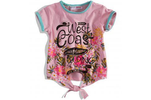 Dívčí tričko MINOTI SPLASH růžové Velikost: 104-110 Trička a košile