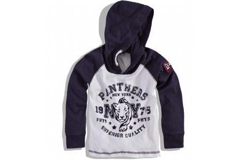 Chlapecké triko s kapucí MINOTI TIGER modré Velikost: 86-92 Trička a košile