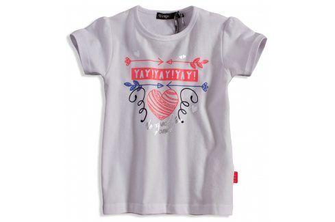 Dívčí tričko DIRKJE YAY bílé Velikost: 92