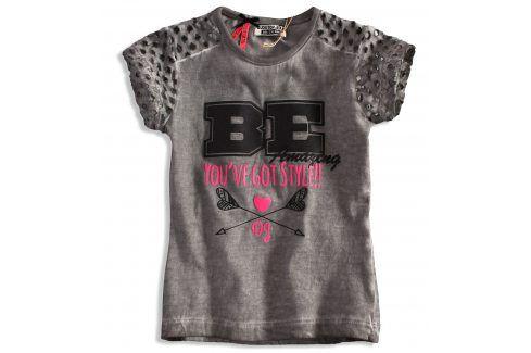 Dívčí tričko DIRKJE STYLISH šedé Velikost: 92
