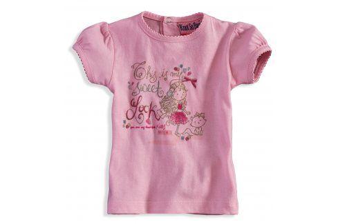 KNOT SO BAD Kojenecké tričko KnotSoBad SWEET LOOK růžové Velikost: 56