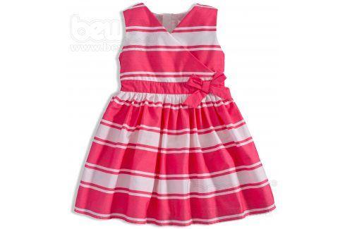 Dívčí šaty MINOTI RIVIERA proužek růžové Velikost: 92