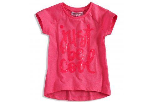 Tričko s krátkým rukávem pro holky MINOTI VIBE růžové Velikost: 92