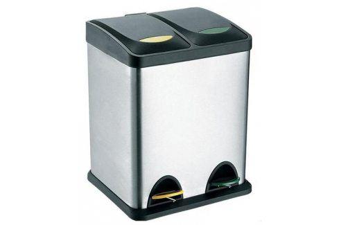 TORO Koš na odpadky nerez, na tříděný odpad, objem 16 l, 40 x 26,5 cm ODPADKOVÉ KOŠE NEREZOVÉ