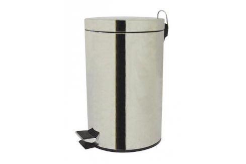 TORO Koš na odpadky nášlapný, objem 12 l, 25 x 40 cm ODPADKOVÉ KOŠE NEREZOVÉ