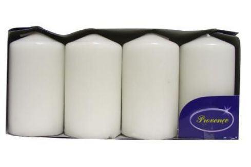 Provence 560117/02 Svíčka válec bílá 4 ks, 5 x 9 cm Svíčky