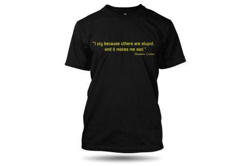 Tričko TBBT I cry černé pánské, Velikost trička L The Big Bang Theory