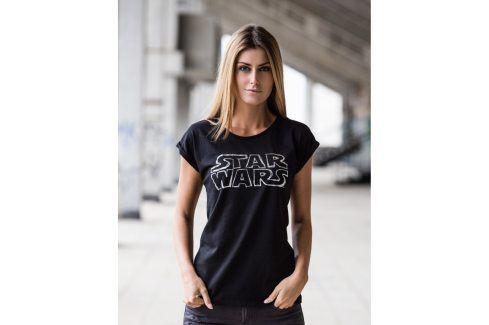 Star Wars silver tričko dámské černé, Velikost trička S Dámská kolekce