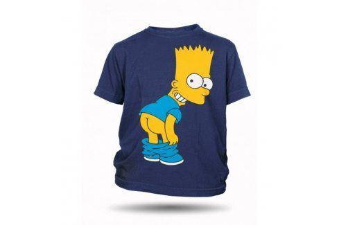 Tričko Bart Simpson zadek dětské tmavě modré, Velikost trička 116 The Simpsons