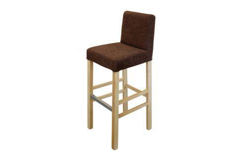 Barová židle BARI buk/tmavě hnědá Jídelní židle
