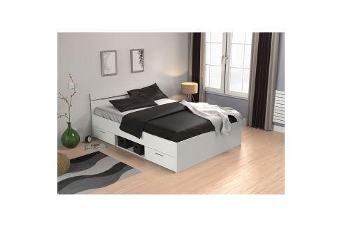 Multifunkční postel 140x200 MICHIGAN perleťově bílá Postele