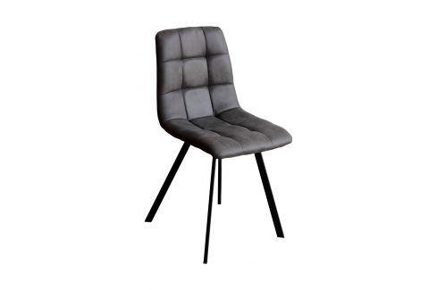 Jídelní židle BERGEN šedé mikrovlákno Jídelní židle